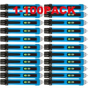 1 100 Bside Non contact Voltage Tester Electrical Detector Pen 12 1000v Lot My