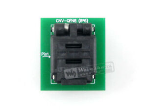 Qfn8 To Dip8 Plastronics Ic Test Socket Programming Adapter For Qfn8 mlf8 mlp8
