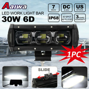 7inch Slim Single Row 6d Spot Led Work Light Cree Off Road Bull Bar Driving 8