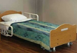 Joerns B675 Full Electric Fall Management Low Hospital Bed Includes New Mattress