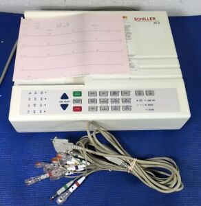 Welch Allyn Schiller At 2 Ekg Machine Lead Wire Clips Battery Not Working