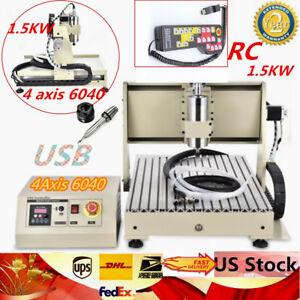 Usb Four 4axis 6040 1 5kw Cnc Router Engraver Engraving Milling Machine control