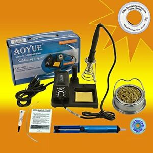 Aoyue 469 Kit Includes 60 Watt Soldering Station Solder Wire Flux Fast Chip R