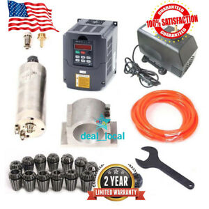 Cnc 2 2kw Spindle Motor 2200w Frequency Inverter Vfd Mount Er20 Collet pump