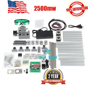 3 Axis Diy Cnc Router Kit Wood Carving Engraver Pcb Milling Machine 2500mw Laser
