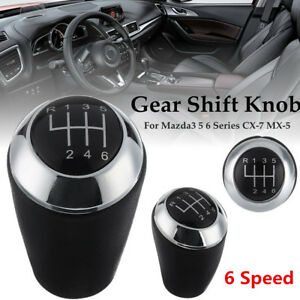 New 6 Speed Car Gear Shift Lever Knob For Mazda 3 6 3 Series Cx 7 Mx 5 2013 2017