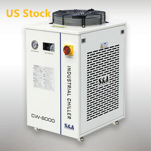 Usa 1 52hp Ac 1p110v 60hz Cw 6000dn Industrial Water Chiller For Laser Cooling