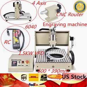 6040t 4 Axis 1 5kw Cnc Router Engraver 3d Diy Engraving Milling Wood Controller