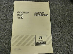 New Holland T1510 T1520 Compact Utility Tractor Shop Service Assemble Manual