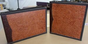 Match Set 2 Tone Western Leather 7 Ring Check Book 3 Ring Binder Free Ship