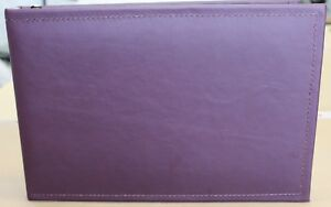 Match Set Smooth Plum Tone Leather 7 Ring Check Book 3 Ring Binder Free Ship