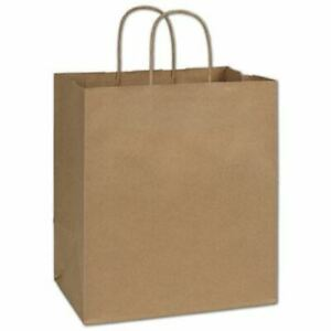 250 Kraft Gift Merchandise Paper Bags Shoppers Lindsey 10 X 6 3 4 X 11 3 4