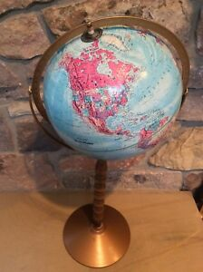 Vintage Large Replogle World Nation Series Globe 30 In Raised