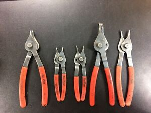 Lot Of 5 Snap Ring Pliers Blue Point