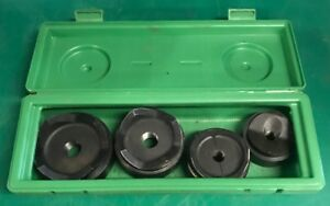 Greenlee 7304 Knockout Punch Set 2 1 2 4 In Case 7306 7310 awesome Shape