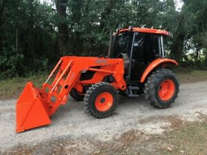 Kubota M6040 Tractor 4x4 Loader Hydraulic Shuttle A c Heat R4 Zero Issues