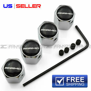 Anti Theft Valve Stem Caps Wheel Tire For Amg Mercedes Benz Va04 Us Seller