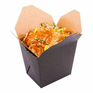 Disposable Noodle Take Out Container Noodle To Go Box Eco friendly Paper Sq