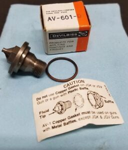 New Old Stock Devilbiss Av 601 D Fluid Tip Jga For Spray Guns With Gasket Seal