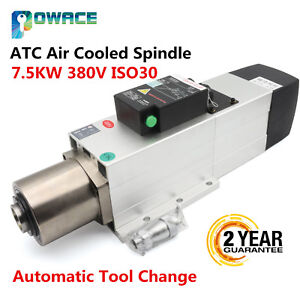 Changsheng 7 5kw Atc Air Cooling Spindle Motor Automatic Tool Change Iso30 380v