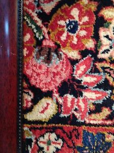 Antique Persian Sarouk Rug In A Frame 23 X 19