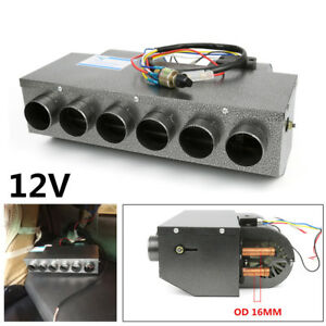 Portable 12v 6 Port 32 Pass 4way Copper Coil Heater For Car Truck Vintage Muscle