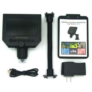 600x 4 3 Hd Lcd Monitor 3 6mp Electronic Digital Video Microscope Led Magnifier