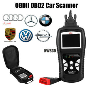 Kw830 Obd2 Obdii Eobd Can Car Fault Code Reader Scanner Diagnostic Scan Tool New