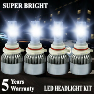 9006 9005 Led Headlight 4200w 630000lm Hi Lo Beam Combo Kit 6000k Hid Lamp C6