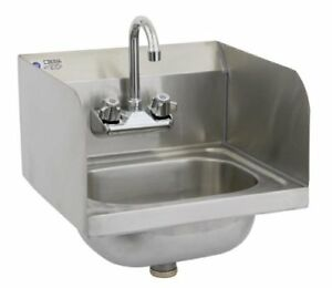 Royal Industries Commercial restaurant Wall mounted Hand Sink W Faucet And 15