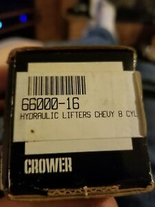 Crower Hydraulic Flat Tappet Chevy Lifters 66000 16 New In Box