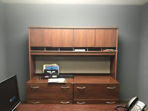Office Furniture desk And Shelving With Drawers