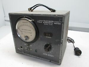 Vintage Field Strength Meter Model A 460 Approved Electronic Instrument Corp