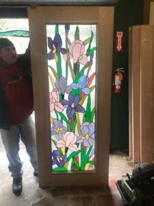 Beautiful Hand Made Stained Glass Floral Entry Door Interior Or Ex Jhl2167 99