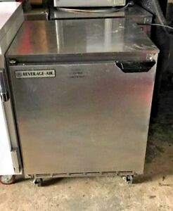Beverage Air 1 Door S s Undercounter Refrigerator Under Counter Low Boy