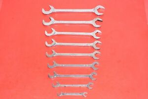 Mac Tools 9 Pc Standard Four 4 Way Offset Angle Head Open End Wrench Set Sda11k