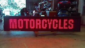New Digital Led Sign Color Scrolling Message Display 100 X 20 X 8