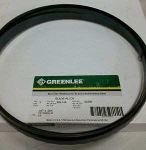 Greenlee Bandsaw Blade 14t 1 2 X 025 Bi metal 399 14a pack Of 3 Usa