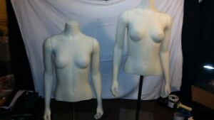 Fusion Female Mannequin Torso Dress Half Form Display Magnetic Arms W stand