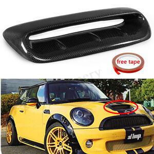 For Mini Cooper S R56 2007 2014 Vtx Style Real Carbon Fiber Hood Scoop Air Vent