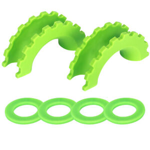 2pcs 3 4inch D Ring Isolator Shackle Cover Bow Shackle Protector Truck Suv Green