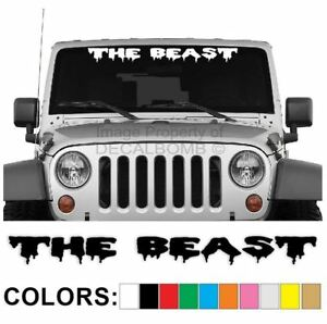 The Beast Windshield Decal Sticker Drip1 Turbo Truck Lift Mud Car Diesel Truck