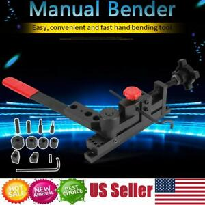 Mini Universal Manual Mounting Bender Metal Bar Tube Pipe Flat Bending Machine S