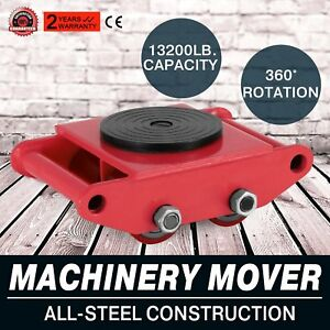 Industrial Machinery Mover With 360 rotation Cap 13200lbs 6t High Quality Us New