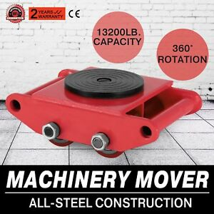 Machinery Mover With 360 rotation Cap 13200lbs 6t 13k Pd Swivel Top 6t Capacity