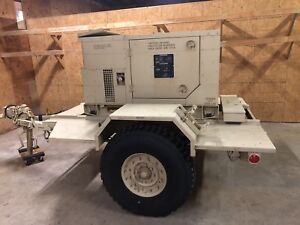 Military Generator Only 2 3 Hours 10kw Mep803a