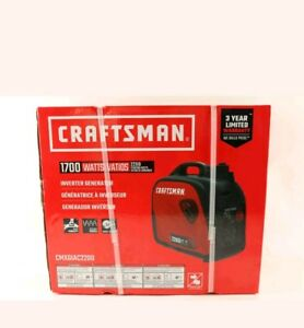 Craftsman 2200i Watt Gas Inverter Generator 1700 Running Watts Brand New