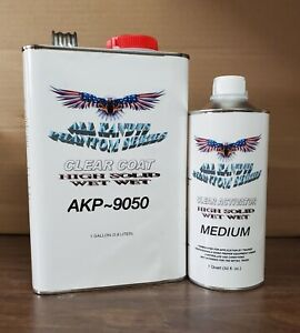 Wet Wet All Kandys High Solid Clear Coat 1 Gallon With 1 Qt Activator Akp9050