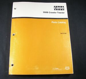 Case 350b Crawler Loader Bulldozer Tractor Parts Manual Catalog Book A1386 Dozer