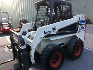 2001 Bobcat 763 Skid Steer Wheel Loader 46 Hp Kubota Diesel Bucket Pallet Forks